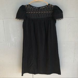 Jovovich Hawk Black Lace Dress